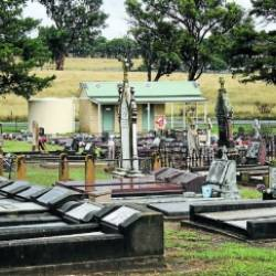 $485K to get water to a new lawn cemetery too much.