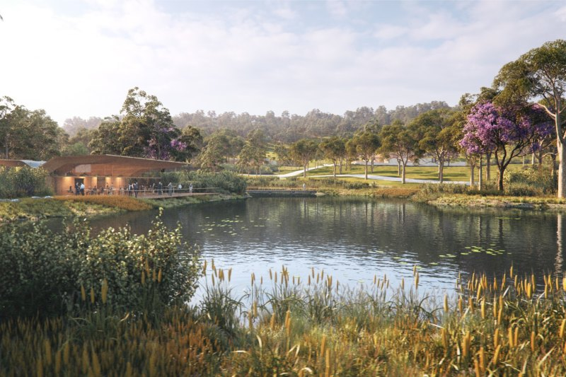 An artist's impression of Macarthur Memorial Park.