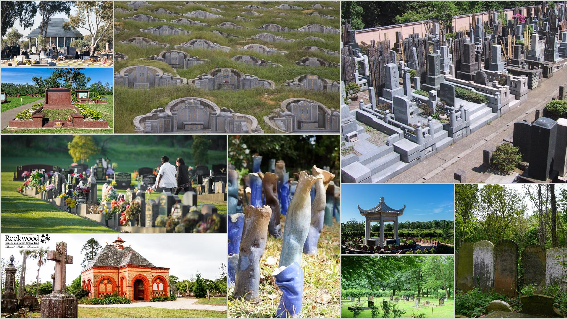 Cemeteries of many cultures