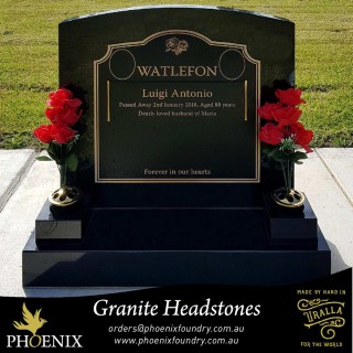 Phoenix Foundry Granite Headstone